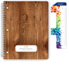 "Middle / High School Planner 2020-2021 (Matrix Style - 8.5""x11"" - Woodgrain)"