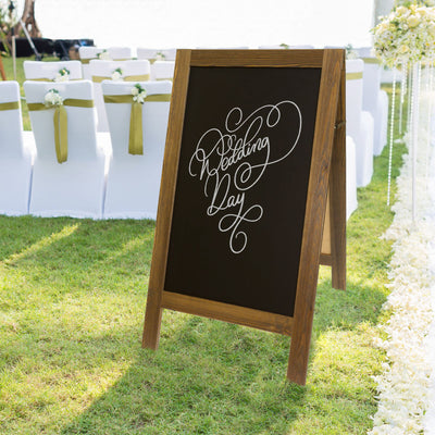 "Extra Large 43"" x 25""  A-Frame Chalkboard Display"