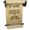 Wall Mounted Kraft Paper Dispenser & Cutter: with Kraft Paper Roll