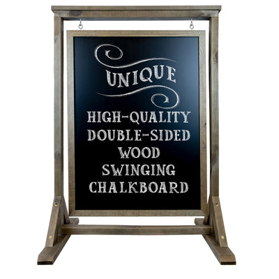 Rustic Handcrafted Chalkboard Sign: Uniquely Designed Wooden Sidewalk Sign