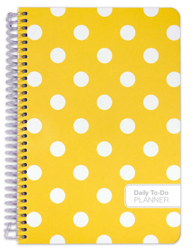 "Fashion ""To Do"" Set - 184 Pages, 5.5"" x 8.5"" ""To Do"" Planner (+) Bonus Clip-in Bookmark (+) 3.5"" x 6.5"" Bonus Journal (Yellow Dots)"