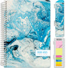 "HARDCOVER Academic Year 2020-2021 Planner 5.5""x8"" (Blue Marble)"