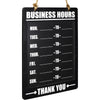 Business Hours Hanging Chalkboard