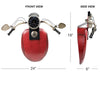 Motorcycle tank/handle bar with Clock