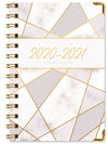 "HARDCOVER Academic Year 2020-2021 Planner 5.5""x8"" (New Pink Triangles)"