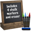"10"" x 10"" Tabletop Chalkboard - Brown (Pack of 5)"
