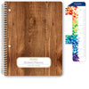 "Middle / High School Planner 2020-2021 (Matrix Style - 7""x9"" - Woodgrain)"