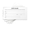1500 Entry Forms - Includes 15 Blank Raffle Ticket Pads - (White)