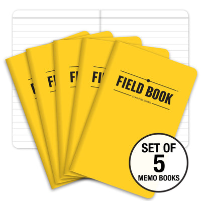 "Field Notebook - 3.5""x5.5"" - Yellow - Pack of 5"