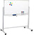 "Large 48""x32"" White Board on Wheels Rolling Stand & 4 Dry Erase Markers"