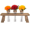 Unique Rustic Flower Holder: Includes 3 Test Tubes Glass Vases