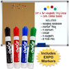 Magnetic Dry Erase and Cork Combo Board: 24x36, Aluminum Frame with 4 Markers