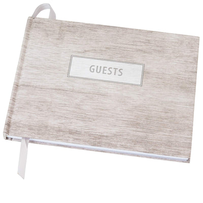 "Wedding Guest Book 9""x7"" (Grey Wood)"