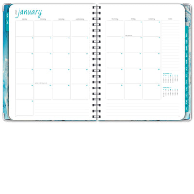 HARDCOVER 2021 Planner - BLUE MARBLE