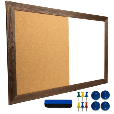 "Dry Erase Cork Board Combo - 24""x36"" - Brown (Pack of 5)"