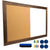 "Dry Erase Cork Board Combo: Magnetic White Board With Cork Bulletin - 24""x36"""