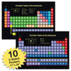 10 Extra Large Periodical Table Posters (24x17 inch Double Sided)