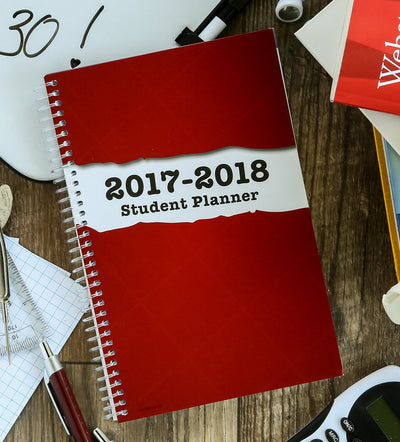 "Dated Middle School or High School Planner for Academic Year 2017-2018 (Matrix Style - 5.5""x8.5"")"