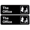 The Office Sign: Easy To Mount with Symbols, 9x3 2-Pack