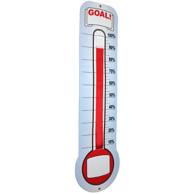 "Fundraising Thermometer Chart Goal Tracker Dry Erase (46"" x 12"")"
