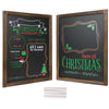 Christmas Wooden Chalkboard Frame Photo Prop 13x17. Set of 2 Boards