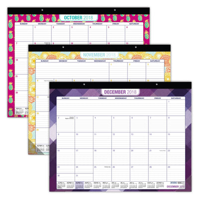 "Desk Calendar 2019 - 22""x17"" - ( July 2018 - Dec 2019)"