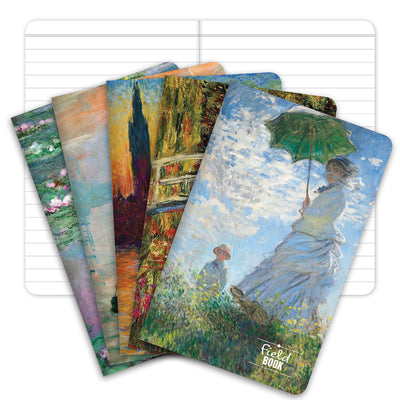"Field Notebook - 3.5""x5.5"" - MONET Patterns - Lined Memo Book - Pack of 5"