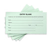 1500 Entry Forms - Includes 15 Blank Raffle Ticket Pads - (Green)