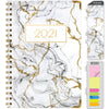 HARDCOVER  2021 Planner - GRAY & GOLD MARBLE FOIL (Nov 2020 - Dec 2021)