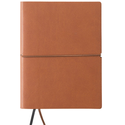 "Pocket Journal Notebook 4.25""x5.75"" with Elastic Closure Leather Material"