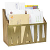 Wooden Mail Organizer Letter Card Holder Rustic Metal Cutout Letters