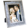 Decorative Picture Frame Photo Holder Mirror with Sparkling Crystal Boarder