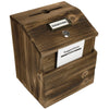 Rustic Suggestion Box with Lock: Includes Labels & Suggestion Pads Cards