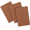 "Field Notebook - 3.5""x5.5"" - Leather Material - Lined Memo Book - Pack of 3"