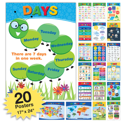 20 Extra Large Educational Kids Posters