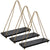 "Rustic Distressed Wood Hanging Shelves: 17"" Swing Rope Shelves (3-Pack)"