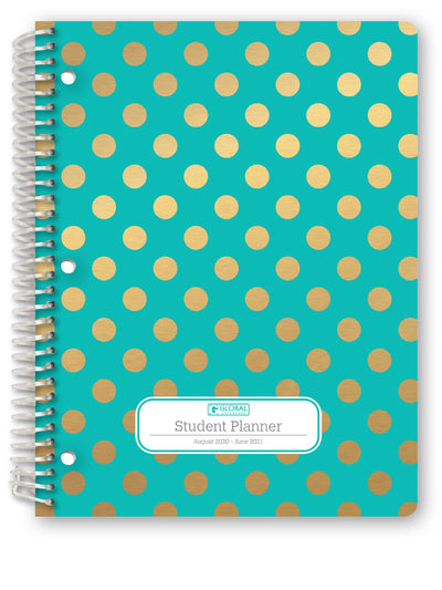 "Middle / High School Planner 2020-2021 (Matrix Style - 8.5""x11"" - Turquiose)"