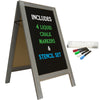 "40"" x 20"" Wooden A-Frame Chalkboard - Whitewash Grey (Pack of 5)"