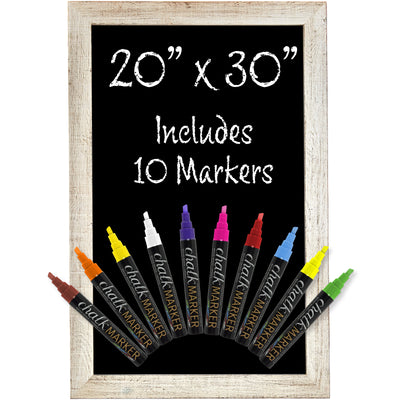 "20""x 30"" Magnetic Wall Chalkboard Sign - White (Pack of 5)"