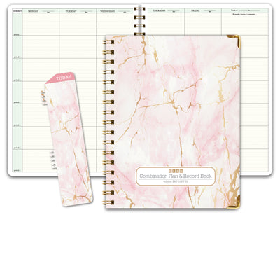 HARDCOVER Combination Plan and Record Book (PR7-10 - Pink Marble)