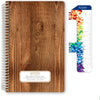 "Middle / High School Planner 2020-2021 (Block Style - 5.5""x8.5"" - Woodgrain)"