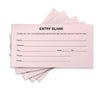 1500 Entry Forms - Includes 15 Blank Raffle Ticket Pads - (Pink)