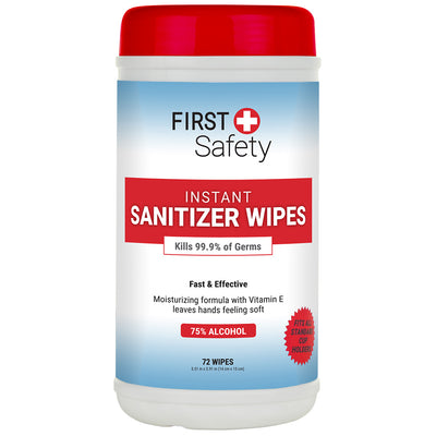 First Safety Hand Sanitizer Wipes 72 ct Tub (76720-013-02)