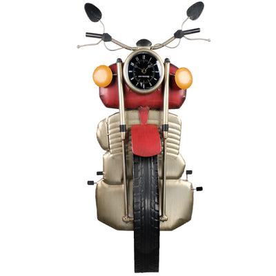 Motorcycle front Wall Dcor with Clock