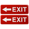 Exit Signs Right/Left: for Business Door 9x3, Pack of 2