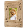 "Rustic Distressed Wood Frame: Holds an 3""x4.5"" (Barn Wood with Metal)"
