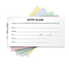 1500 Entry Forms - Includes 15 Blank Raffle Ticket Pads - (Combo Colors)