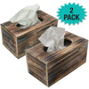 Rectangle Rustic Tissue Box 2 pack