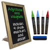 "Rustic Tabletop Chalkboard: Includes 4 Liquid Chalk Markers 15""x11"""