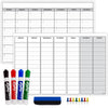 "Laminated Dry Erase Calendar Large 24""x36"": Double Sided Weekly & Monthly Format"